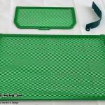 การ์ดหม้อน้ำ CoxRacing สีเขียว สำหรับ Ducati Multistrada 1200 (2015)