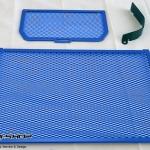 การ์ดหม้อน้ำ CoxRacing สีน้ำเงิน สำหรับ Ducati Multistrada 1200 (2015)