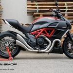 ท่อ Hp corse slip 2-1 ตรงรุ่นสำหรับ Ducati Diavel