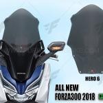 ชิวหน้า HERO V6 FOR HONDA FORZA300 2018