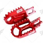 พักเท้า SUPER ZERO สีแดง FOR HONDA CRF250M L