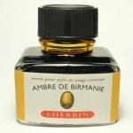 หมึก D Ink 30ml. J.Herbin - สีแอมเบอร์ Ambre de birmanie 41