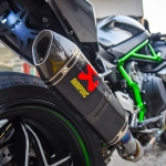 ท่อ AKRAPOVIC CARBON SLIP-ON FOR KAWASAKI H2R