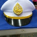 หมวกหม้อตาลชายสีขาว หน้าสิงห์ (พร้อมซองหมวก)