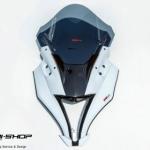 หน้ากากแต่งทรงZX motoZaaa สีขาว สำหรับ ninja250 ninja300