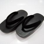 Fit Geta-11 รองเท้าเกี๊ยะไม้ดำ เชือกดำ