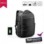 """กระเป๋าเป้โน๊คบุ๊คสะพายหลัง รุ่น Neo กันน้ำ มีพอร์ต usb สำหรับหน้าจอ 13-15.6"""" หรือ macbook"""