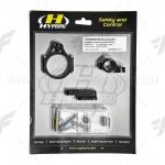 ขาจับกันสะบัด HYPERPRO สีดำFOR TRIUMPH765