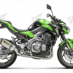ท่อ AKRAPOVIC SLIP-ON CARBON TITANIUM FOR KAWASAKI Z900