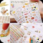 Cute Cat Stickers สติกเกอร์รูปแมวน้อย 6 ชุด