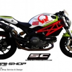 ท่อ SC PROJECT OVAL Black for Ducati Monster795-796