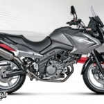 ท่อ AKRAPOVIC SLIP-ON FOR SUZUKI V-STROM 650