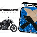 สติ๊กเกอร์กันรอยข้างถัง STORM GRIP ใส FOR KAWASAKI Z900
