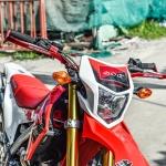 การ์ดแฮนด์ ZETA สีแดง FOR HONDA CRF250