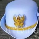 หน้าหมวกหม้อตาลหญิงสีขาว หน้าครุฑ