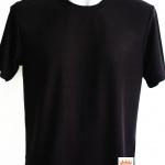 พร้อมส่ง ไซส์ S เสื้อคอกลมสีดำ เสื้อสีดำ ผู้ใหญ่ ผลิตจากผ้าจูติ (ผ้าที่ทำเสื้อโปโล)