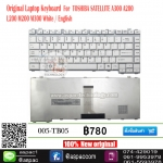 Keyboard TOSHIBA SATELLITE A300 A200 L200 M200 M300 สีขาว
