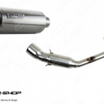 ท่อ PR2 GP2 Vespa Slipon สแตนเลส คอบอม