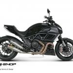 ท่อ Akrapovic slip 80000 ออกคู่ ตรงรุ่นสำหรับ Ducati Diavel
