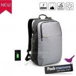 """กระเป๋าเป้โน๊คบุ๊คสะพายหลัง รุ่น Casual กันน้ำ มีพอร์ต usb สำหรับหน้าจอ 13-15.6"""" หรือ macbook"""