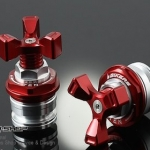 นัตปิดหัวโช๊ค biker Front Shock Up Adjusters for ninja2013