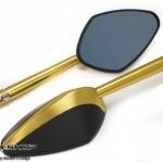 กระจก CNC สีทอง ทรง Radial
