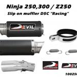 ท่อ DEVIL EVOLUTION รุ่น 1002SCR SLIP-ON FOR KAWASAKI NINJA250-300/Z250 (2013UP)