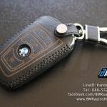 ซองหนัง BMW F series สีเทาเข้ม ด้ายดำ