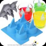 Shark fin Ice Tray พิมพ์รูปครีบฉลาม