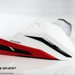 อกล่าง Storm สีขาวแดง สำหรับ CB650f