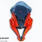 หน้ากากแต่งทรงZX motoZaaa สีส้ม สำหรับ ninja250 ninja300