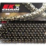 โซ่ EK CHAIN 525 X-RING สีดำหมุดทอง