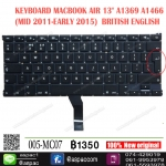 "KEYBOARD MACBOOK AIR 13"" A1369 A1466 (MID 2011-EARLY 2015) BK BRITISH ENGLISH"