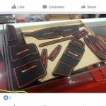 Slot Mat แผ่นยางรองในช่องรถยนต์ Ranger 2015