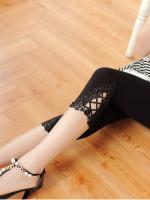 เลกกิ้งคนท้อง ขา 3ส่วนผ้ายืด เนื้อผ้าเบาใส่สบายมี2สี สีดำ,สีเทา