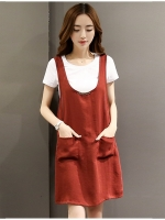ชุดคลุมท้อง ตัวชุดมี2ชิ้นเสื้อด้านในผ้าคอตตอนตัวชุดเป็นผ้าฝ้าย แบบสวยใส่สบาย