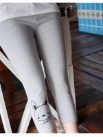 กางเกงเลกกิ้งคนท้อง ลายการ์ตูนน้องหมา ผ้าใส่สบาย ขาสามส่วน แบบน่ารักค่ะ