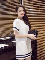 ชุดเสื้อคลุมท้องสีขาว ผ้าฝ้าย