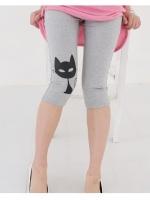 กางเกงเลกกิ้งคนท้อง ลายการ์ตูนน้องแมว