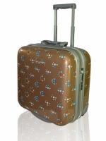 IPSA กระเป๋าเดินทางล้อลากมีลวดลายชนิดแข็ง (EN TOUT CAS Trolley Bag) ขนาดประมาณ 16 นิ้ว พร้อมล็อคแบบใช้กุญแจ ผลิตจากวัสดุคุณภาพดี