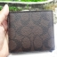 NEW COACH DOUBLE BILLFOLD WALLET IN SIGNATURE (COACH F75083) MAHOGANY/BROWN thumbnail 4
