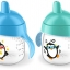 Philips Avent My Penguin Sippy Cup 9oz, Stage 2 Blue (6 months+) thumbnail 4