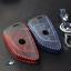 ซองหนังกุญแจ บีเอ็มดับเบิ้ลยู X5(F15) , X1(F48) , Series2 AT F45 , Series5 G30 สีเทาเข้ม ด้ายแดง / น้ำเงิน thumbnail 4