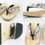 New Geta-04 รองเท้าเกี๊ยะทรงเตี๊ย ไม้ธรรมชาติ เชือกขาวดอกไม้ม่วง thumbnail 6