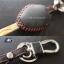 ซองหนังกุญแจ บีเอ็มดับเบิ้ลยู สีเทาเข้ม ด้ายแดง E46 E39 E60 E85 thumbnail 2