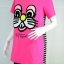 Design by Greymarket เสื้อยืดสีชมพูลายปักการ์ตูน งานเกาหลี thumbnail 1