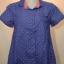 BLUE CORNER เสื้อเชิ๊ตแขนสั้น สีน้ำเงินลายจุดสีส้ม thumbnail 1