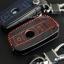 เคสกุญแจหนัง บีเอ็มดับเบิ้ลยู E series สีเทาเข้ม เย็บด้วยด้ายแดง / น้ำเงิน thumbnail 6
