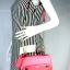 JASPAL กระเป๋าสะพายหนัง PU TOP HANDLE/CRYSTAL SNAKE สี PINK thumbnail 3