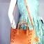 JASPAL กระเป๋าสะพายหนัง PU TOTE +CRYSTAL/PIECED Togethe สีส้มพีท thumbnail 1
